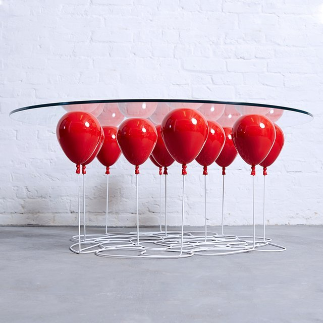 up red balloon coffee table