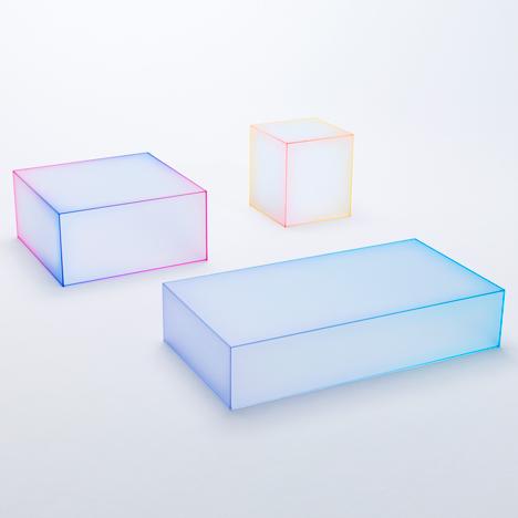 Nendo glass tables